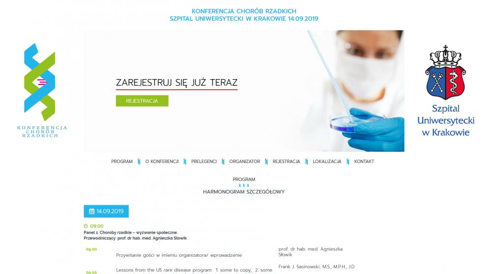 Projekt strony Szpital Uniwersytecki