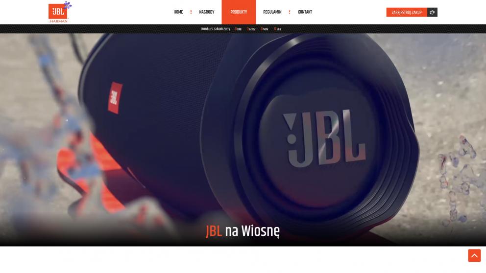 Projekt strony JBL na wiosnę
