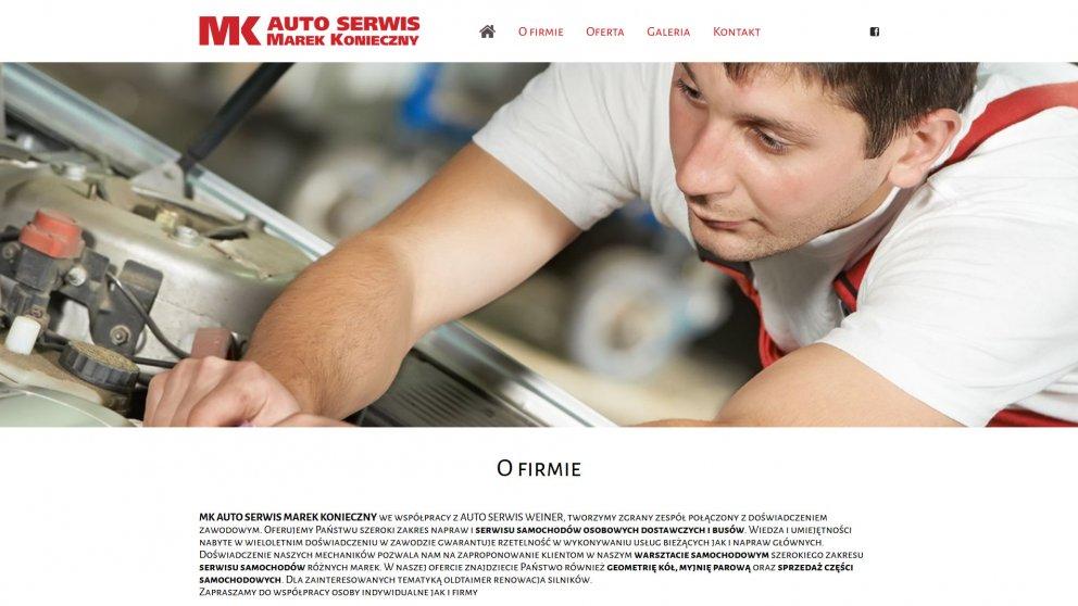 Projekt strony MK Auto Serwis