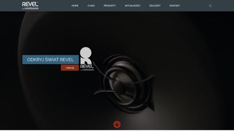 Projekt strony Revel