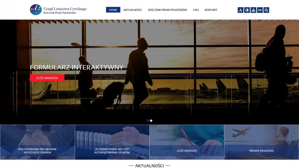 Projekt strony ULC - Rzecznik Praw Pasażera