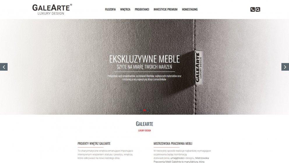 Projekt strony Galearte