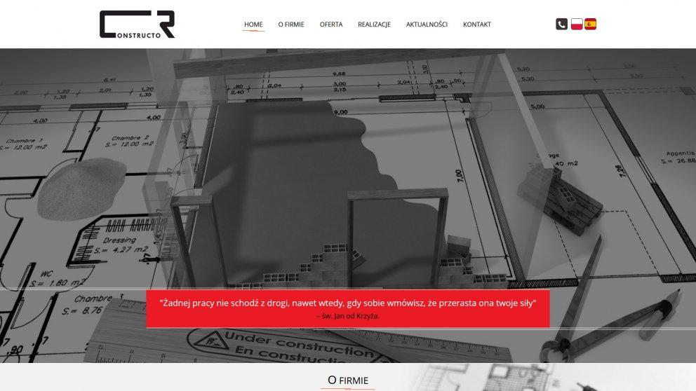 Projekt strony Constructor