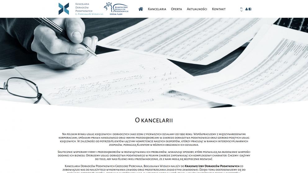 Projekt strony Kancelaria podatkowa