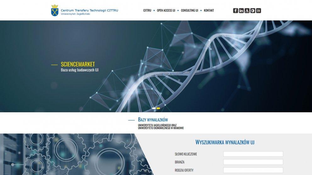Projekt strony Science Market
