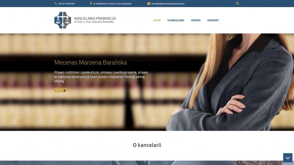 Projekt strony Kancelaria Barańska