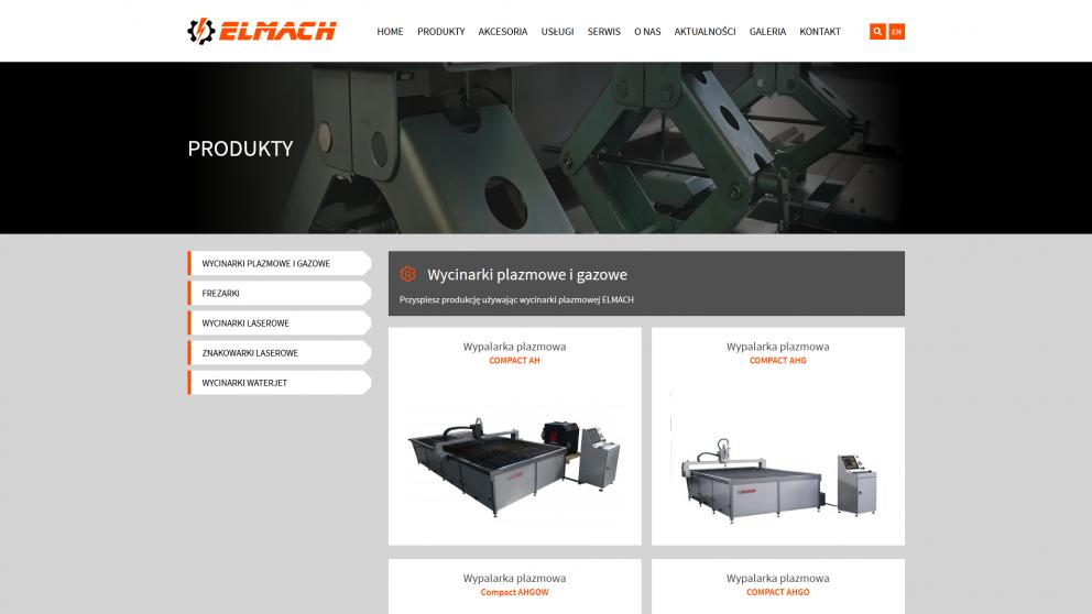 Projekt strony Elmach