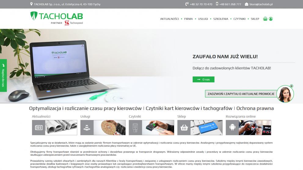 Projekt strony Tacholab