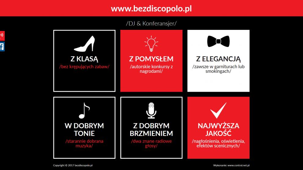 Projekt strony Bez disco polo