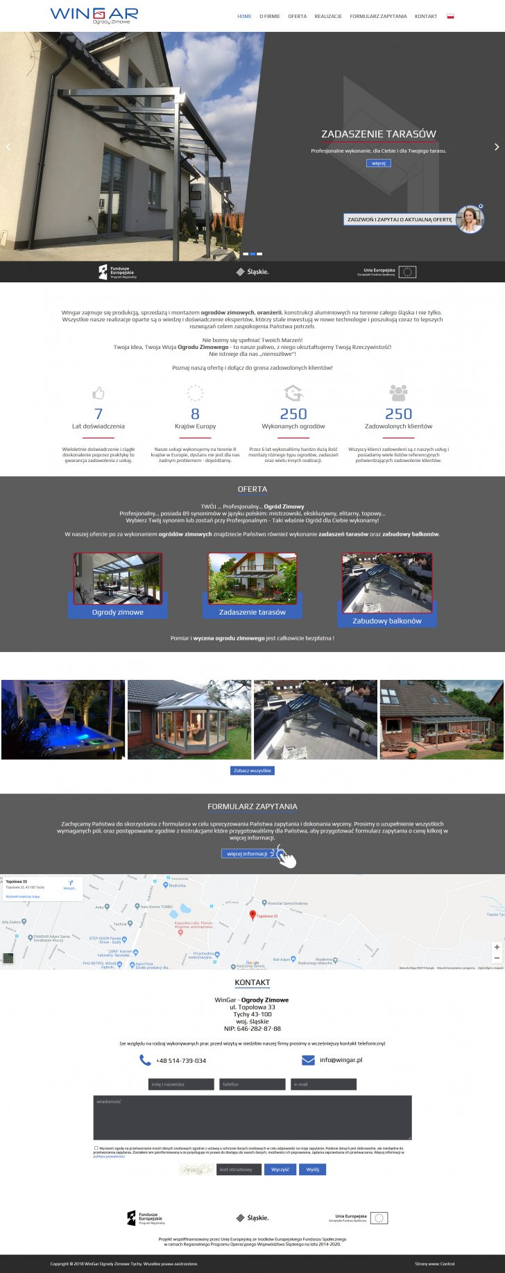 Projekt strony www na pc