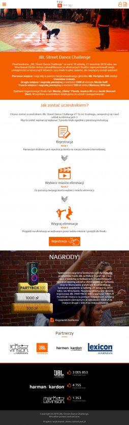 Projekt strony www na tablet