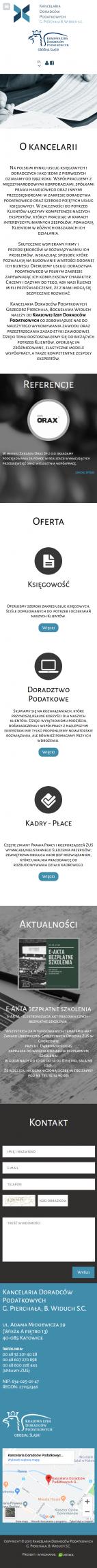 Projekt strony www na telefon